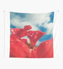 Flower and sky Wall Tapestry