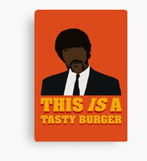 This is a tasty burger. Canvas Print
