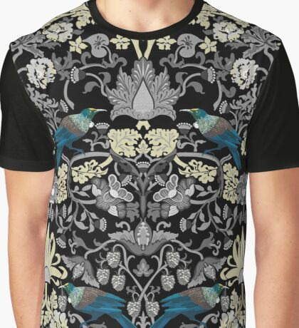 Flowers & Tui - Grey Graphic T-Shirt