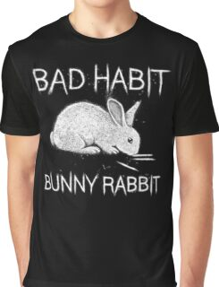Bad Habit Bunny Rabbit Cocaine Graphic T-Shirt