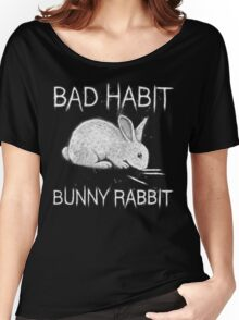 Bad Habit Bunny Rabbit Cocaine Women's Relaxed Fit T-Shirt