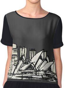 Sydney Silhouette Women's Chiffon Top