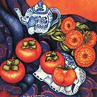 Thai Elephants with Persimmons by YouBeaut Designs