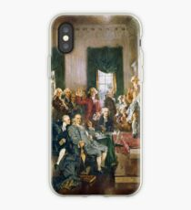 Scene at the Signing of the Constitution of the United States is a famous oil-on-canvas painting by Howard Chandler Christy iPhone-Hülle & Cover