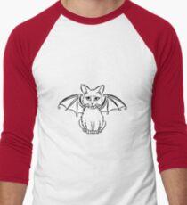 Bat Cat Men's Baseball ¾ T-Shirt