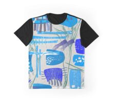 Chaotic  Mid-Century Abstract Graphic T-Shirt