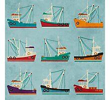 Fishing Trawlers Photographic Print