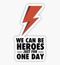 David Bowie (HEROES) Sticker