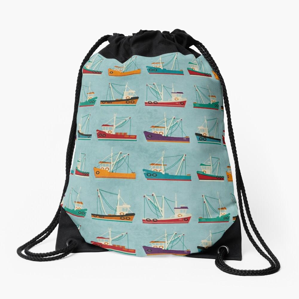 Fishing Trawlers Drawstring Bag Front