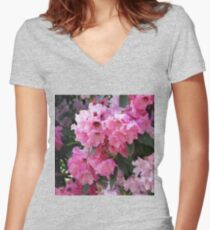 Pretty in Pink Women's Fitted V-Neck T-Shirt