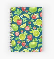 Strawberry and lime Spiral Notebook