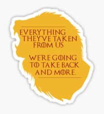 House Lannister: Everything They've Taken Sticker