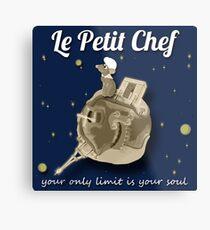 Le Petit Chef (monotone) Metal Print
