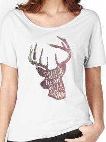 drop a heart, break a name Women's Relaxed Fit T-Shirt