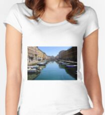 Gran Canal in Trieste Women's Fitted Scoop T-Shirt