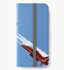 Red Arrows jets flying in formation iPhone Wallet/Case/Skin