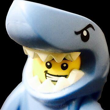 Lego Shark Suit Guy minifigure by aaronslego