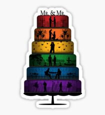 Gay Pride Wedding Cake Sticker