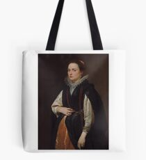 Sir Anthony Van Dyck () An Unknown Lady, in a black mantle, lace ruff and coral beads Tote Bag