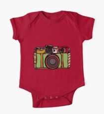 Vintage film camera  One Piece - Short Sleeve
