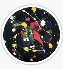Splattered Reord Sticker