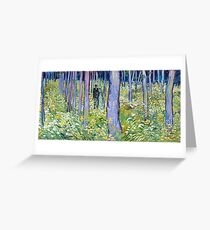 Vincent van Gogh Undergrowth with Two Figures Greeting Card