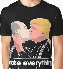 Trump, der Putin küsst Grafik T-Shirt