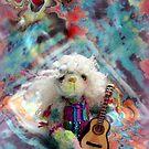 Handmade bears from Teddy Bear Orphans - Sundance, hippy bear by Penny Bonser