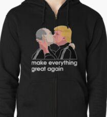 Trump kissing Putin Zipped Hoodie