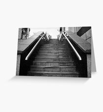 A Set Of Black And White Marble Stairs Greeting Card