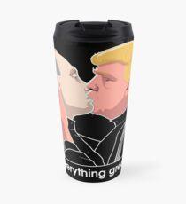 Trump kissing Putin Travel Mug