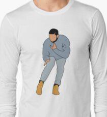 Camiseta de manga larga LA LÍNEA DIRECTA DE DRAKE BLING