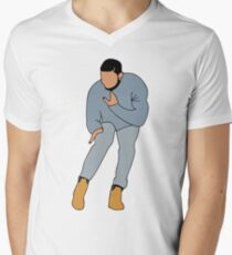 Camiseta de cuello en V LA LÍNEA DIRECTA DE DRAKE BLING