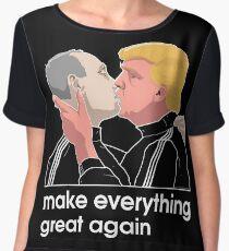 Trump kissing Putin Chiffon Top