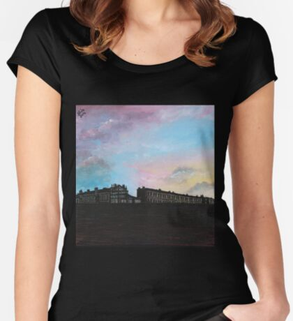 Priory Road at Dusk Women's Fitted Scoop T-Shirt