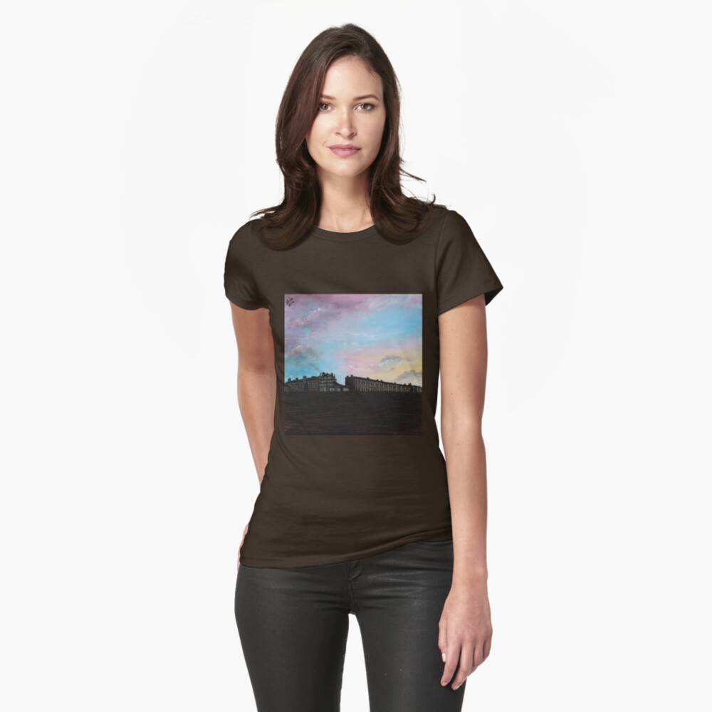 Priory Road at Dusk Fitted T-Shirt