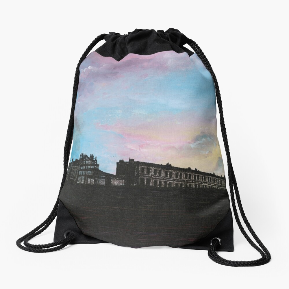 Priory Road at Dusk Drawstring Bag