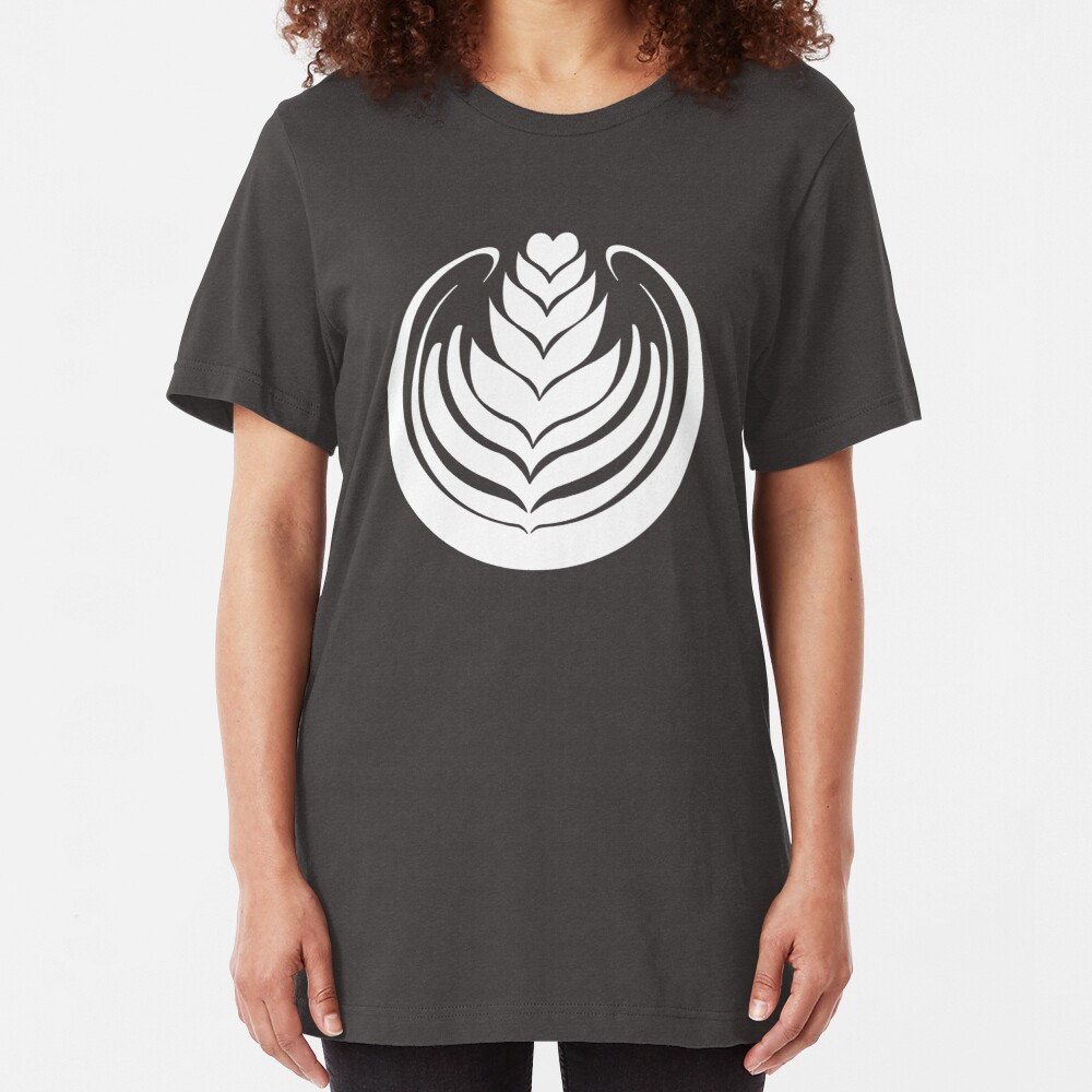 Latte Art Tulip Slim Fit T-Shirt