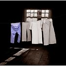 Blue Pants on a Duochrome Washline by Wayne King