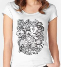 A Medley of Mushrooms Women's Fitted Scoop T-Shirt