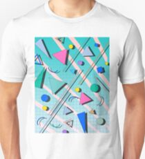 80s pop retro pattern 4 Unisex T-Shirt
