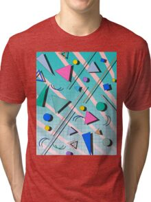 80s pop retro pattern 4 Tri-blend T-Shirt