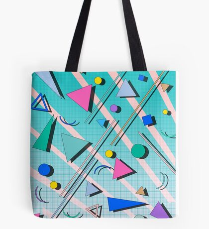 80s pop retro pattern 4 Tote Bag