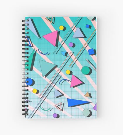 80s pop retro pattern 4 Spiral Notebook