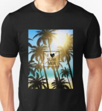 I love summer design with palms and ocean view. T-Shirt