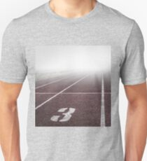 Track and Field Fog Scenery T-Shirt