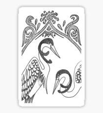 Two Herons Sticker