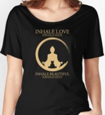 Inhale exhale Yoga With Cat Women's Relaxed Fit T-Shirt