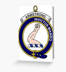 Armstrong Clan Badge Greeting Card