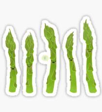 Asparagus say hi! Sticker